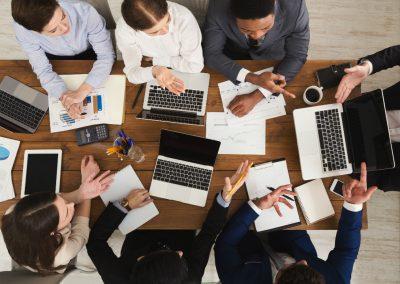 laptops office meeting