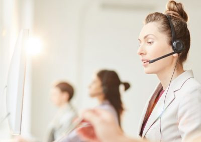 Call centre headset